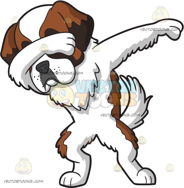 781x800 A Saint Bernard Dog Doing The Dab Saint Bernard Dog