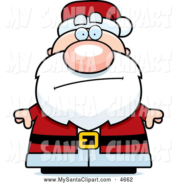 600x620 Clip Art Of Worried Santa Claus
