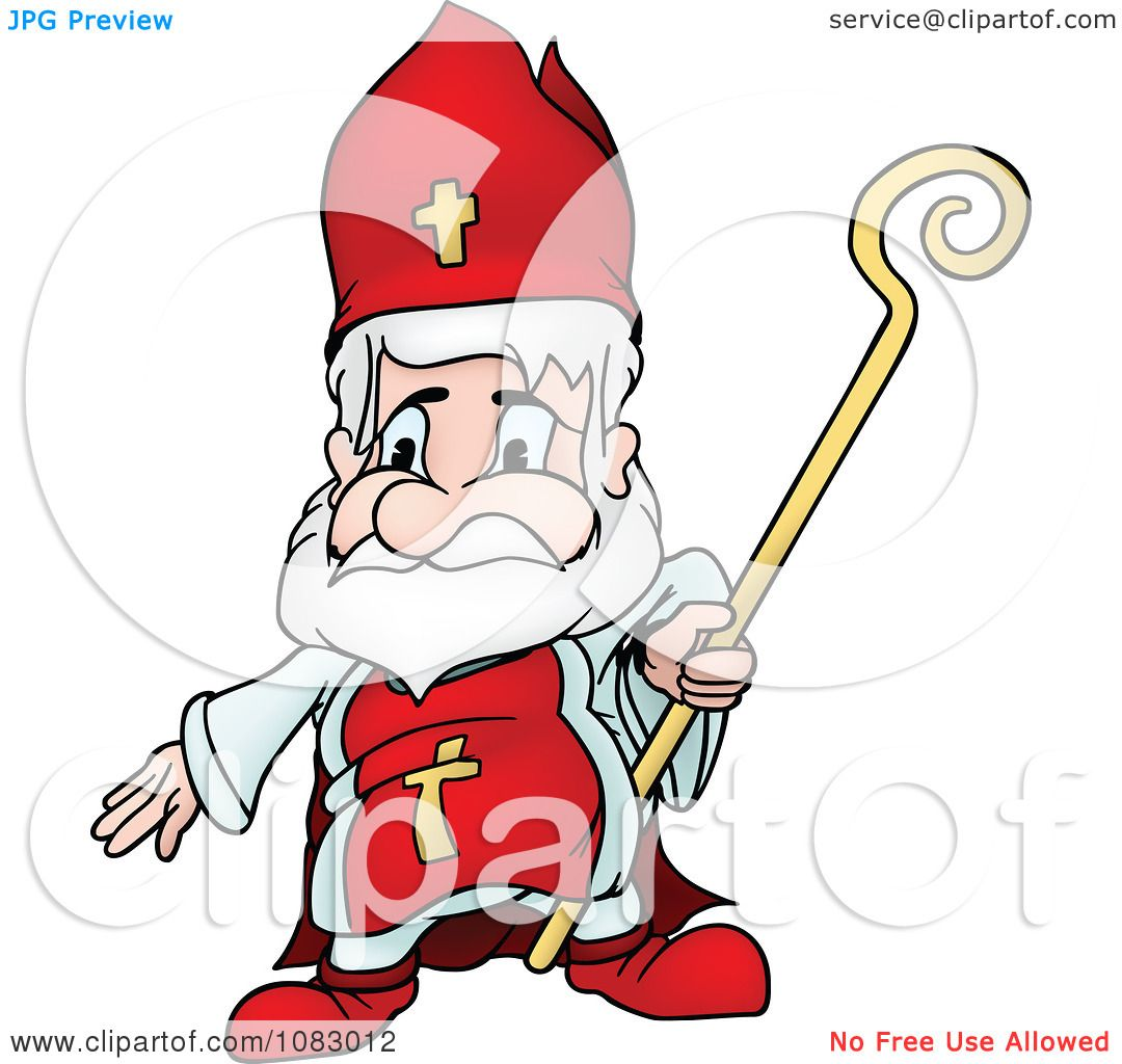 1080x1024 Clipart Saint Nicholas Holding A Staff