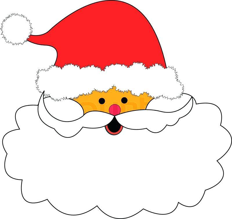 800x755 Santa Beard Clip Art Red Hat And Nose White Beard Illustration
