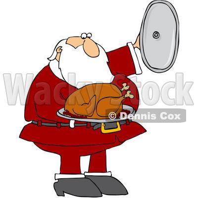 400x400 Santa Presenting A Roasted Turkey
