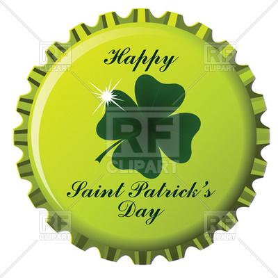 400x400 Happy Saint Patrick's Day Theme On Bottle Cap Royalty Free Vector