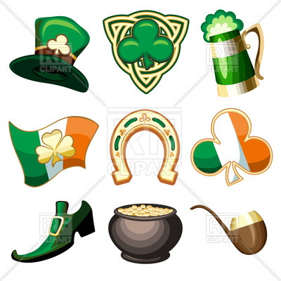 400x400 Saint Patrick's Day Symbols And Icons Royalty Free Vector Clip Art