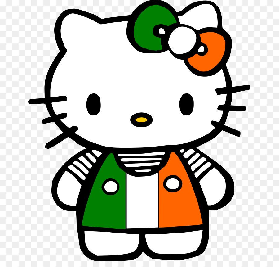 900x860 Happy St. Patrick's Day, Hello Kitty Saint Patrick's Day Ireland