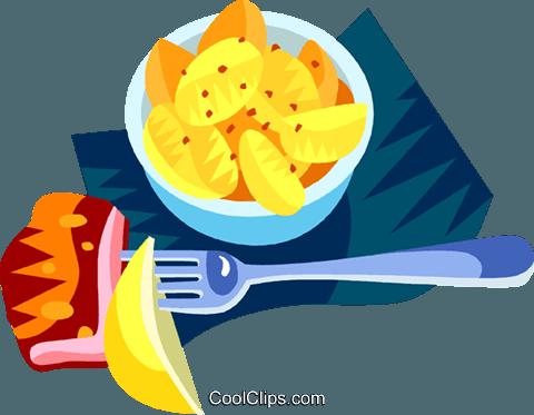 480x373 German Potato Salad Royalty Free Vector Clip Art Illustration