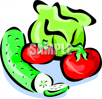 350x341 Green And Red Salad Clipart Collection