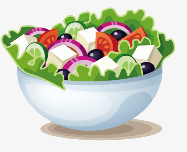 650x530 Hand Painted Salad, Cartoon, Hand Painted, Salad Png Image