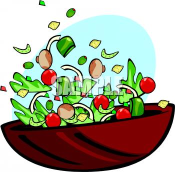 350x344 Salad Clipart