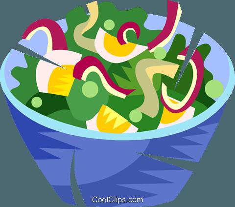 480x424 Salad Royalty Free Vector Clip Art Illustration Vc101486