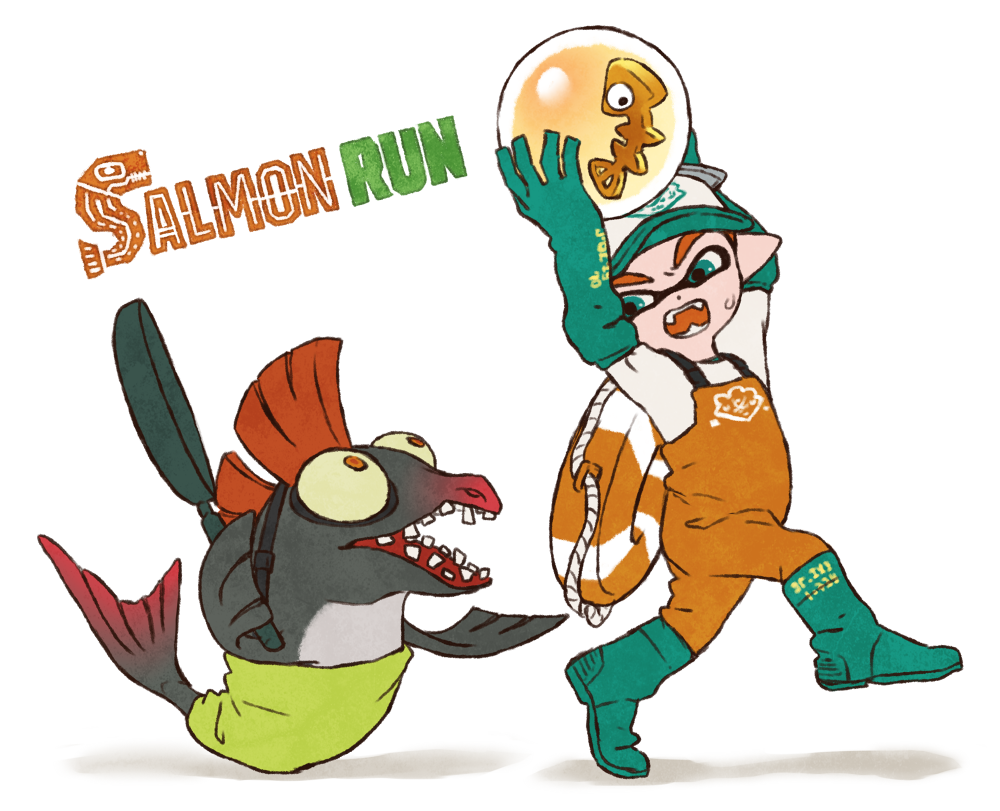 1000x811 Salmon Run Clipart
