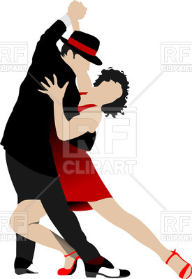 275x400 Couple Dancing A Tango Royalty Free Vector Clip Art Image