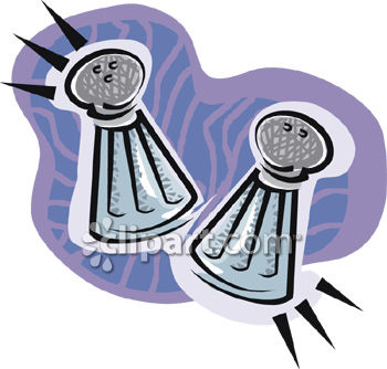 350x334 Salt And Pepper Shaker Clipart Picture
