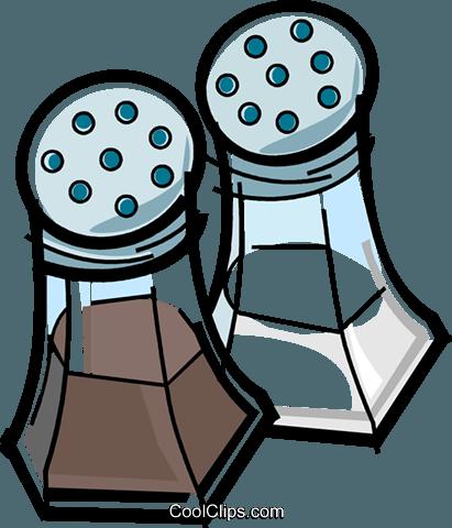 411x480 Salt And Pepper Royalty Free Vector Clip Art Illustration