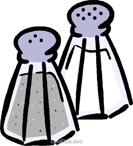 436x480 Salt And Pepper Shakers Royalty Free Vector Clip Art Illustration