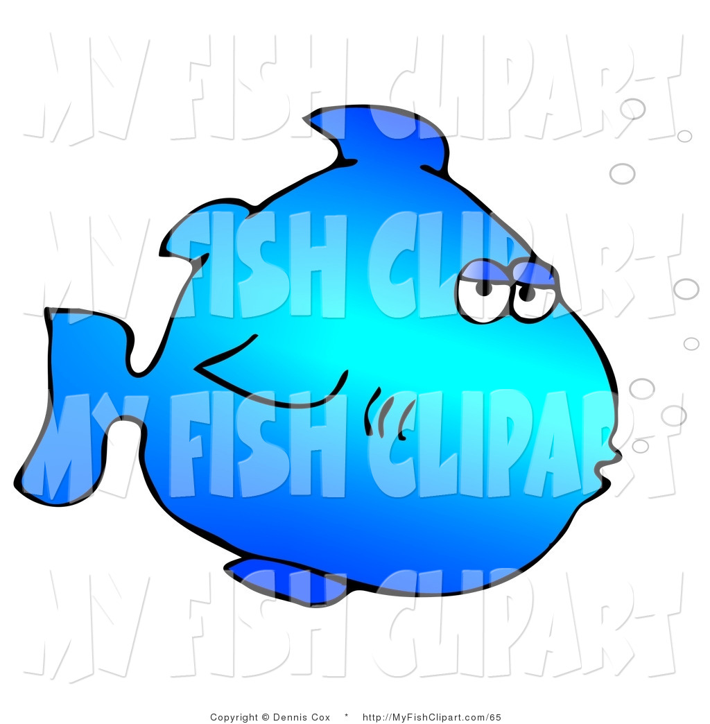1024x1044 Clip Art Of A Blue Marine Fish Blowing Bubbles By Djart