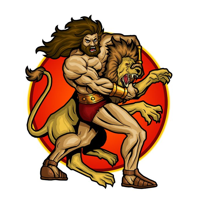 700x700 Biblical Art Of Samson And The Lion Oh .how I Love Jesus