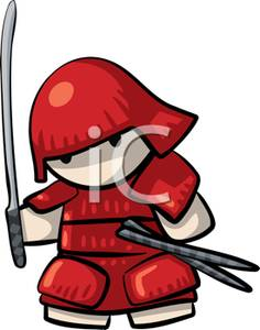 236x300 A Samurai Warrior Clipart Picture