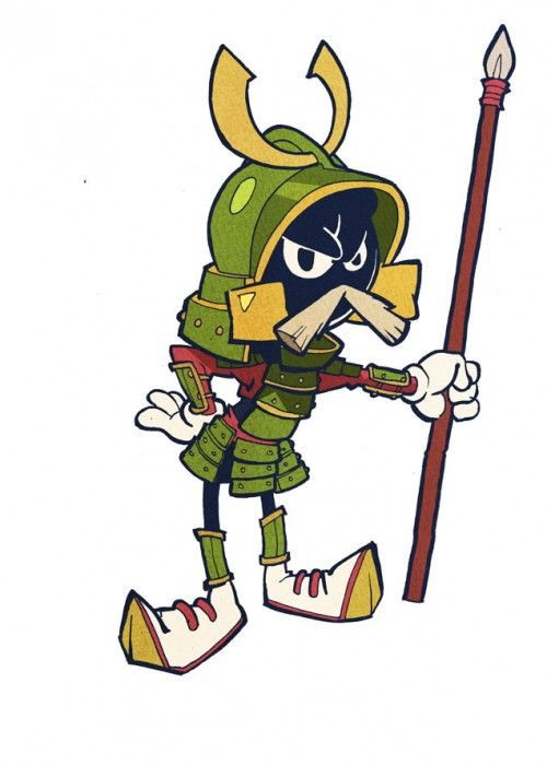 500x701 Looney Tunes' Characters Imagined As Samurai Warriors Looney