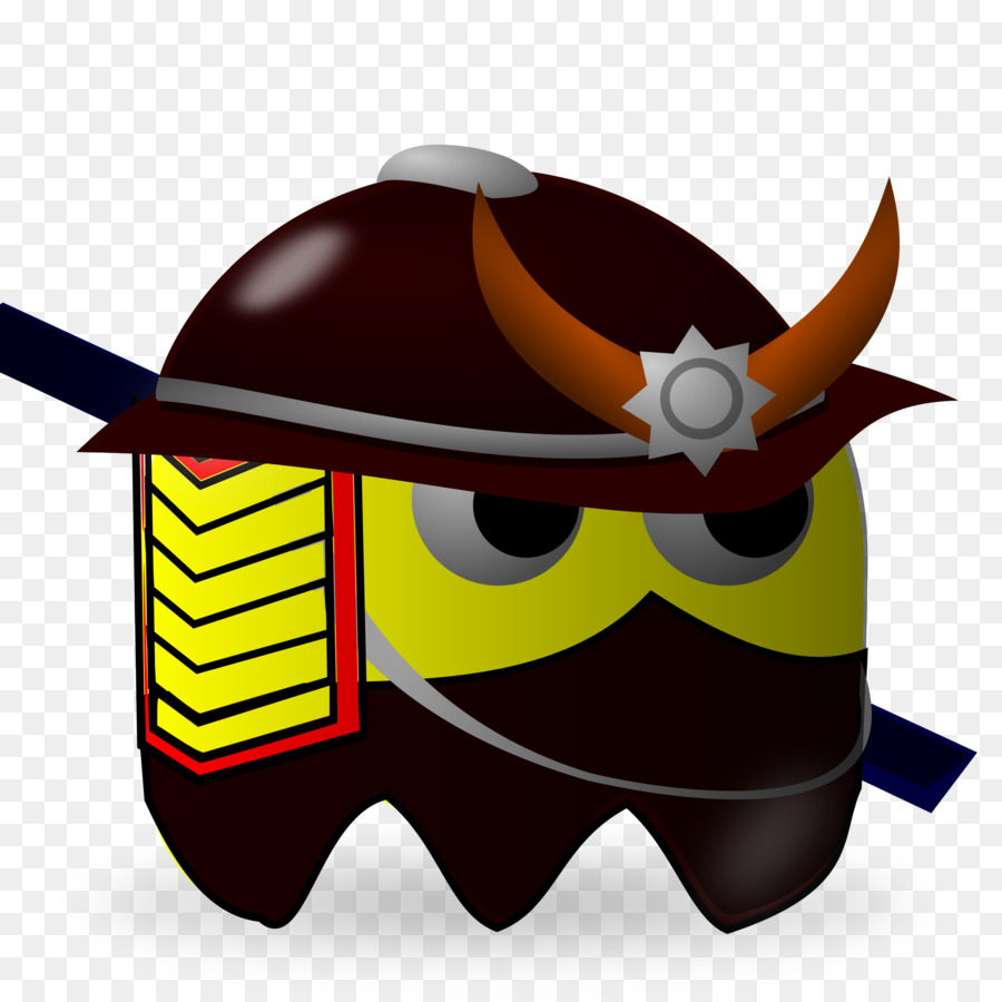 900x900 Pac Man Samurai Warrior Clip Art