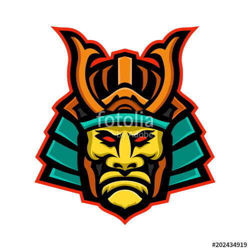 500x500 Samurai Warrior Head Mascot Stock Image And Royalty Free Vector