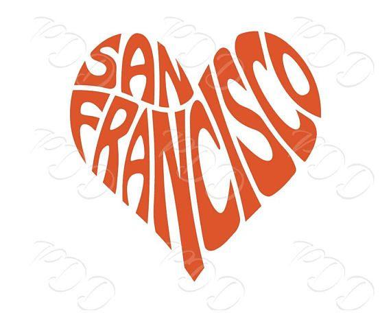 570x456 Digital San Francisco Word Art San Francisco Jpg Png Eps Etsy