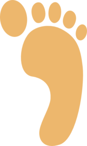 177x297 Footprints In The Sand Clipart