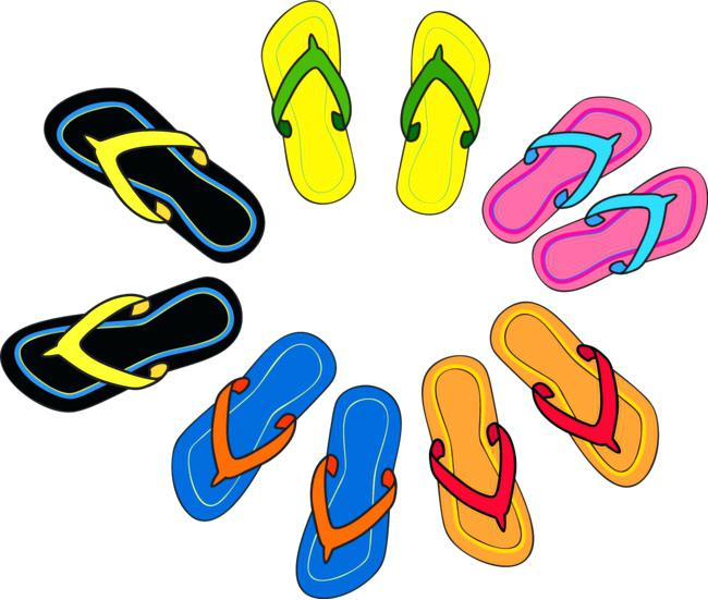 650x551 Cartoon Flip Flops Clip Art Vector Color Cartoon Slippers Color