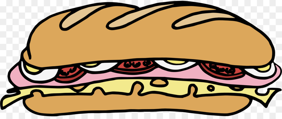 900x380 Submarine Sandwich Delicatessen Bacon Sandwich Clip Art