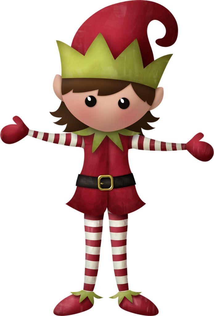 Santa And Elves Clipart