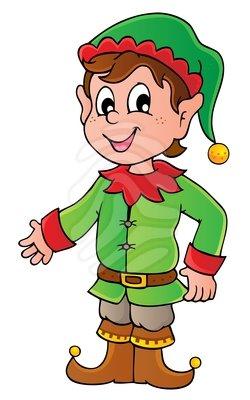 250x400 Cartoon Christmas Elves Clipart