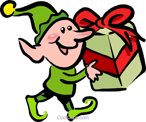 480x400 Santa's Elves And Helpers Royalty Free Vector Clip Art