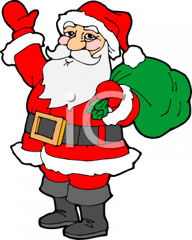 280x350 Santa Claus Clip Art Animated Clipart Panda
