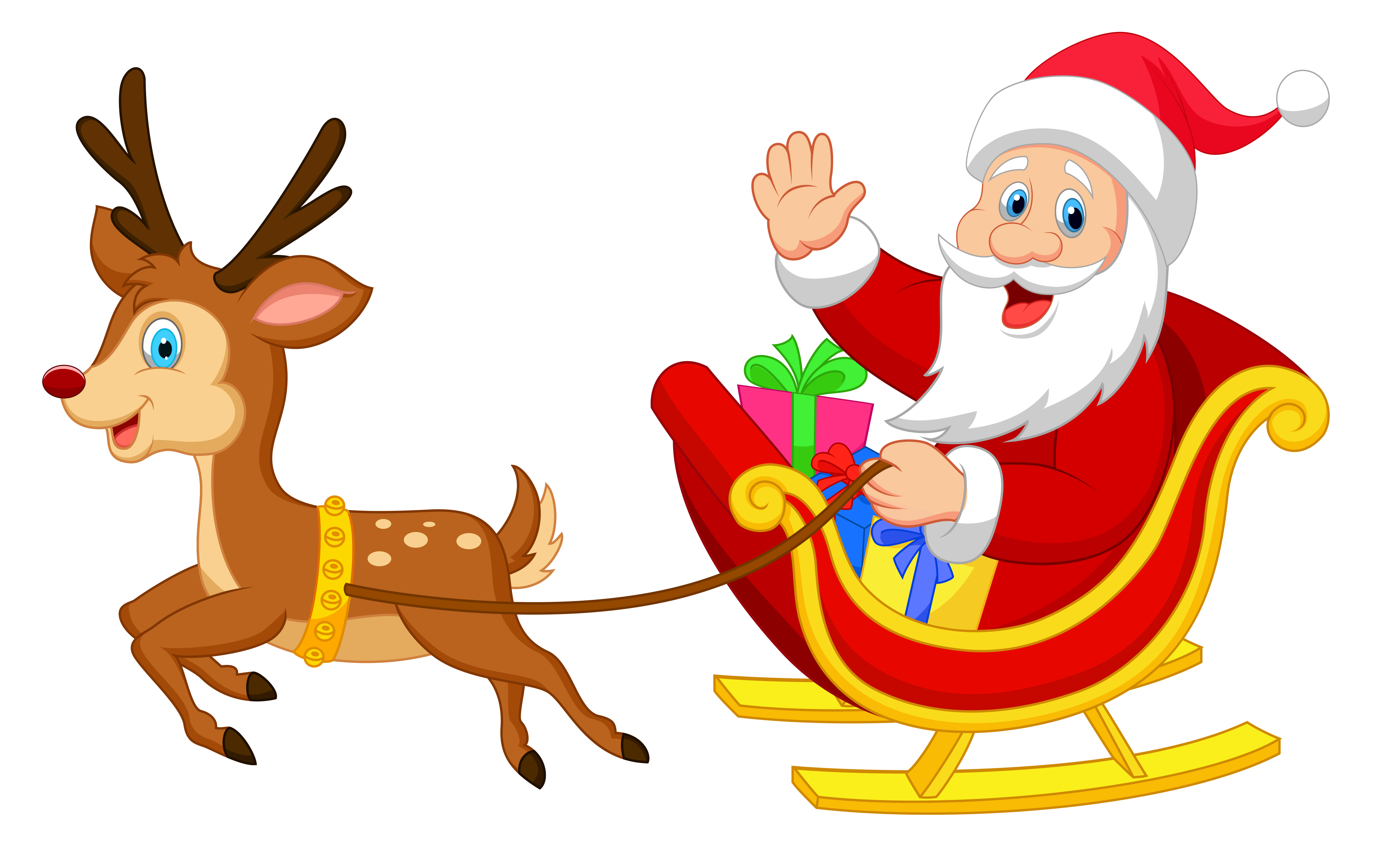 santa and his reindeer clipart at getdrawings com free for rh getdrawings com santa sleigh clipart png santa in his sleigh clipart