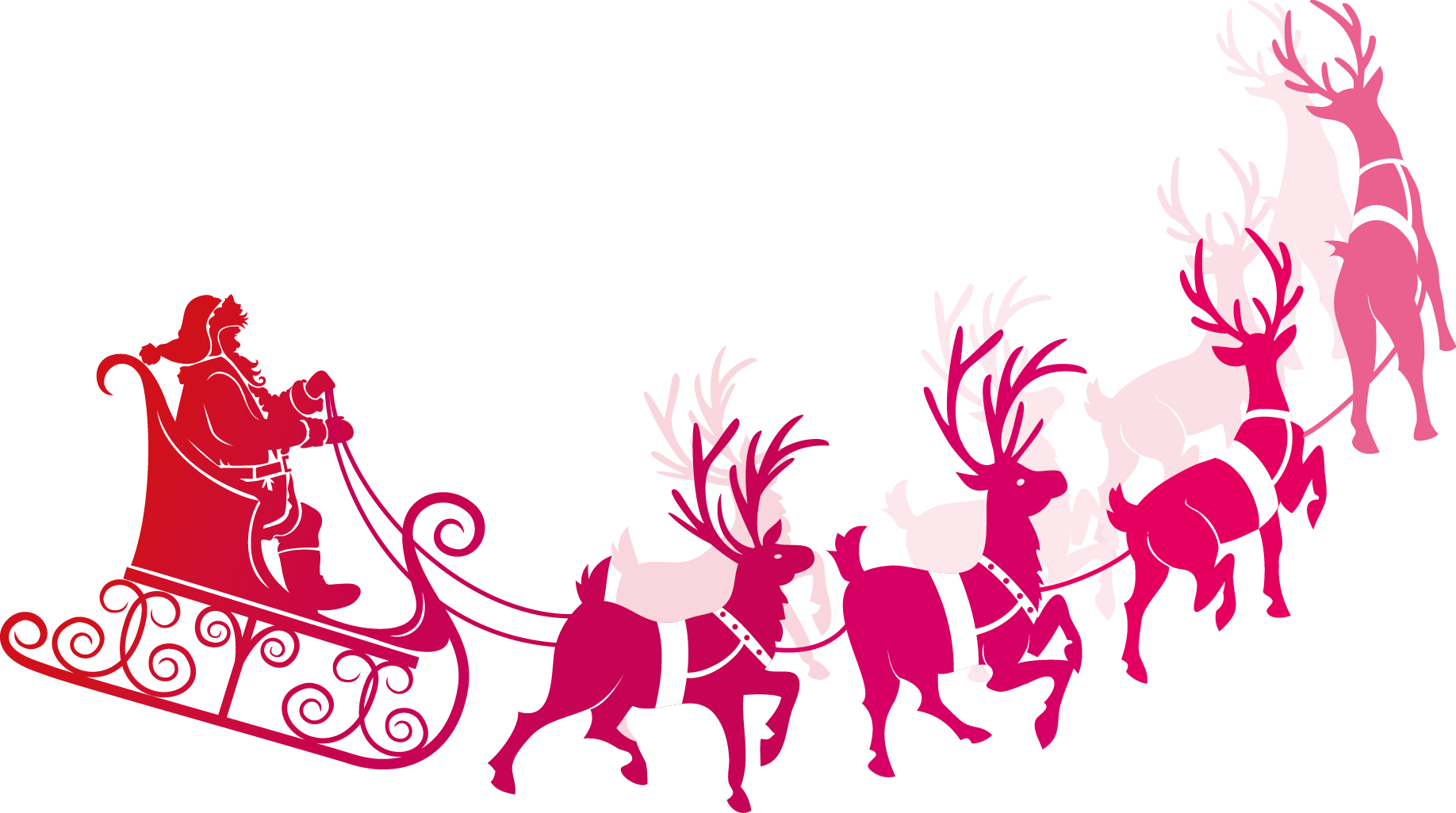 Santa And His Sleigh Clipart at GetDrawings.com | Free for ...