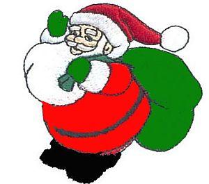 300x265 Santa Claus Clip Art Images Black And White Clipart Panda