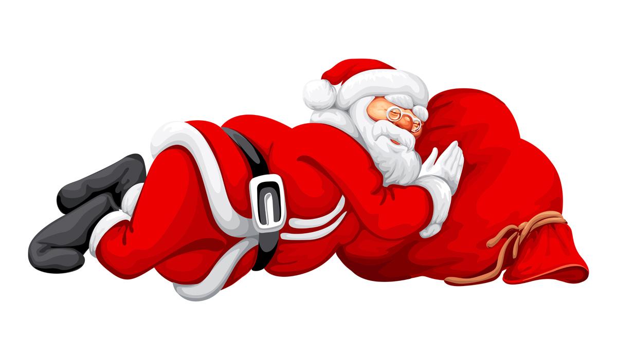 1200x701 Tired Clipart Santa