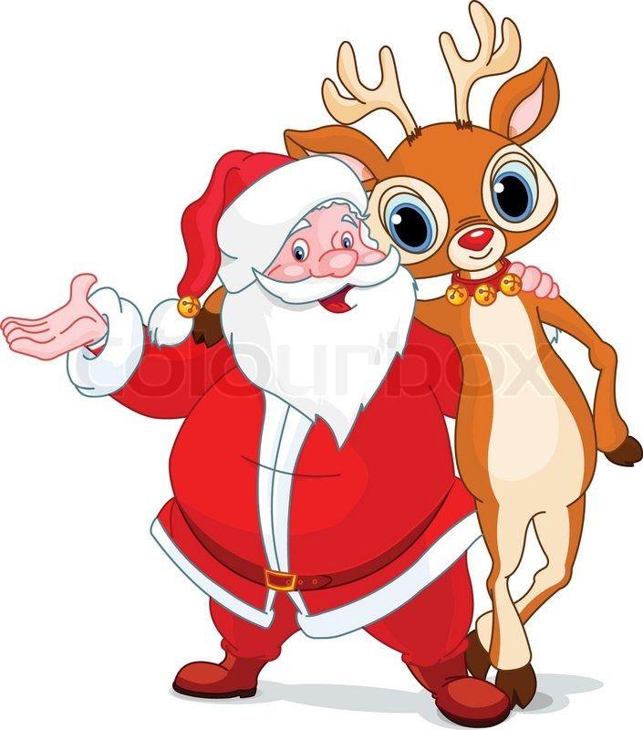 705x800 2934319 Santa And His Reindeer Rudolf Hugging.jpg