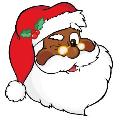 400x400 Black Santa Claus Clipart