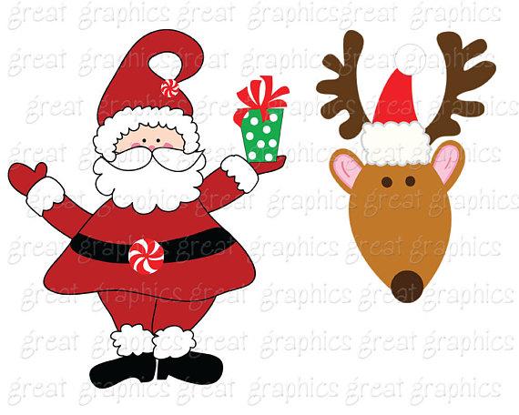 570x456 Clipart Santa And Reindeer Amp Clip Art Santa And Reindeer Images