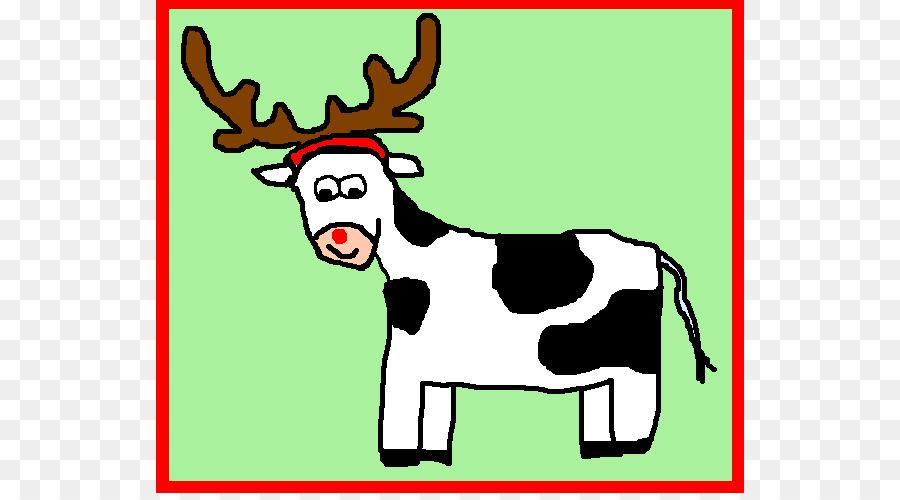 900x500 Reindeer Cattle Christmas Santa Claus Clip Art