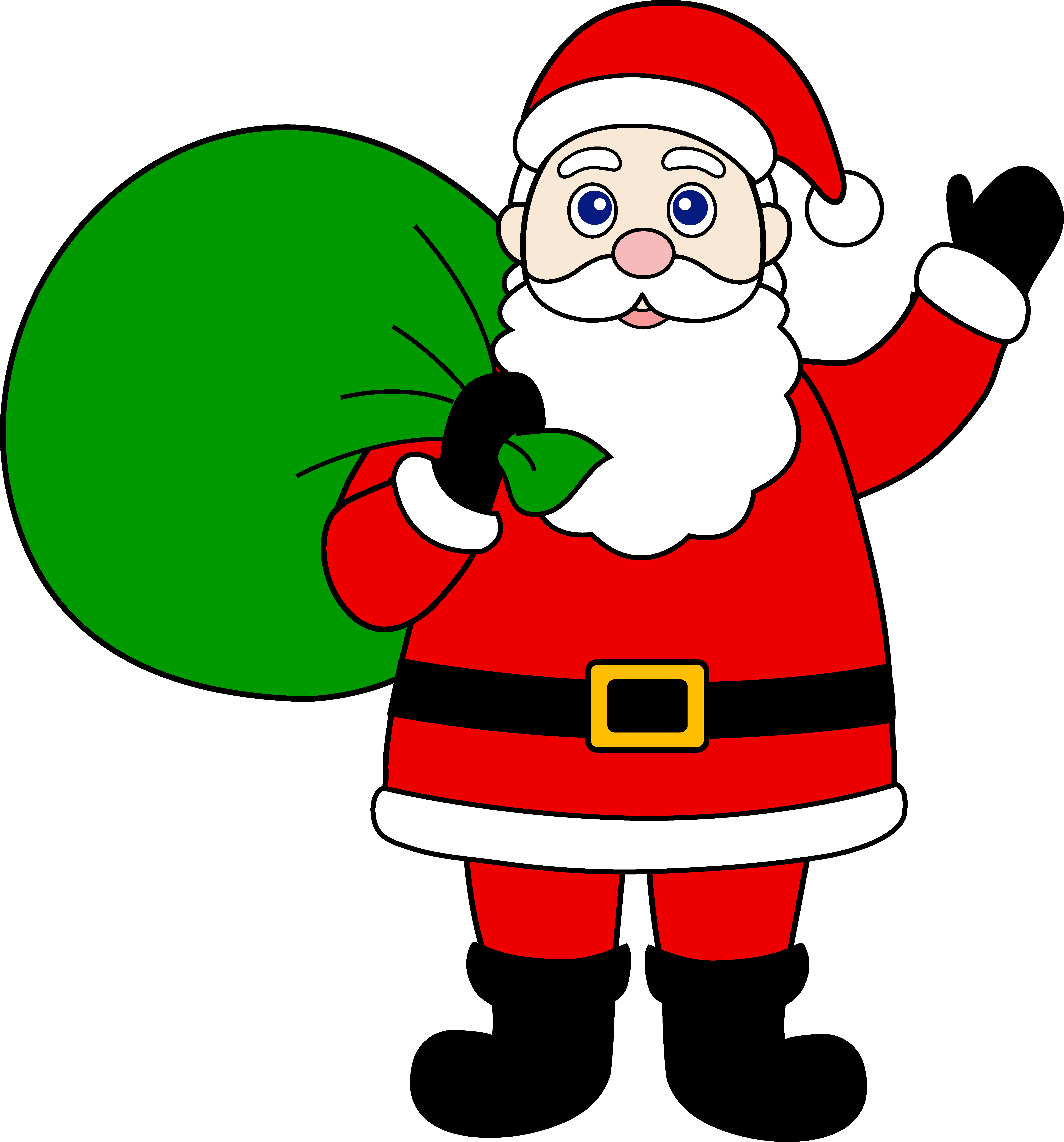 7060x7577 Santa Claus Clip Art And Reindeer Clipart Panda
