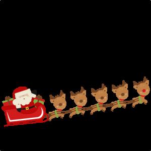 300x300 Santa Reindeer Clipart Free Santa Reindeer Cliparts Download Free