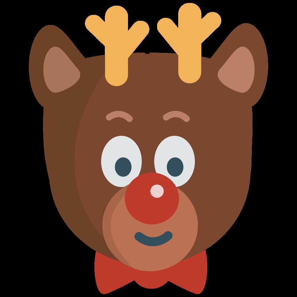 1000x1000 Santa And Reindeer Clipart Christmas Image 4