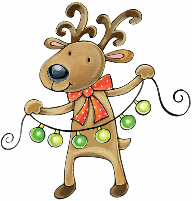650x679 Whimsical Reindeer Cliparts
