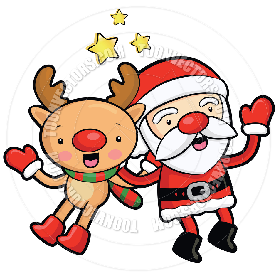 940x940 Clip Art Santa And Reindeer Clip Art