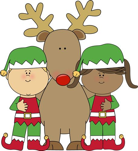 Santa And Rudolph Clipart