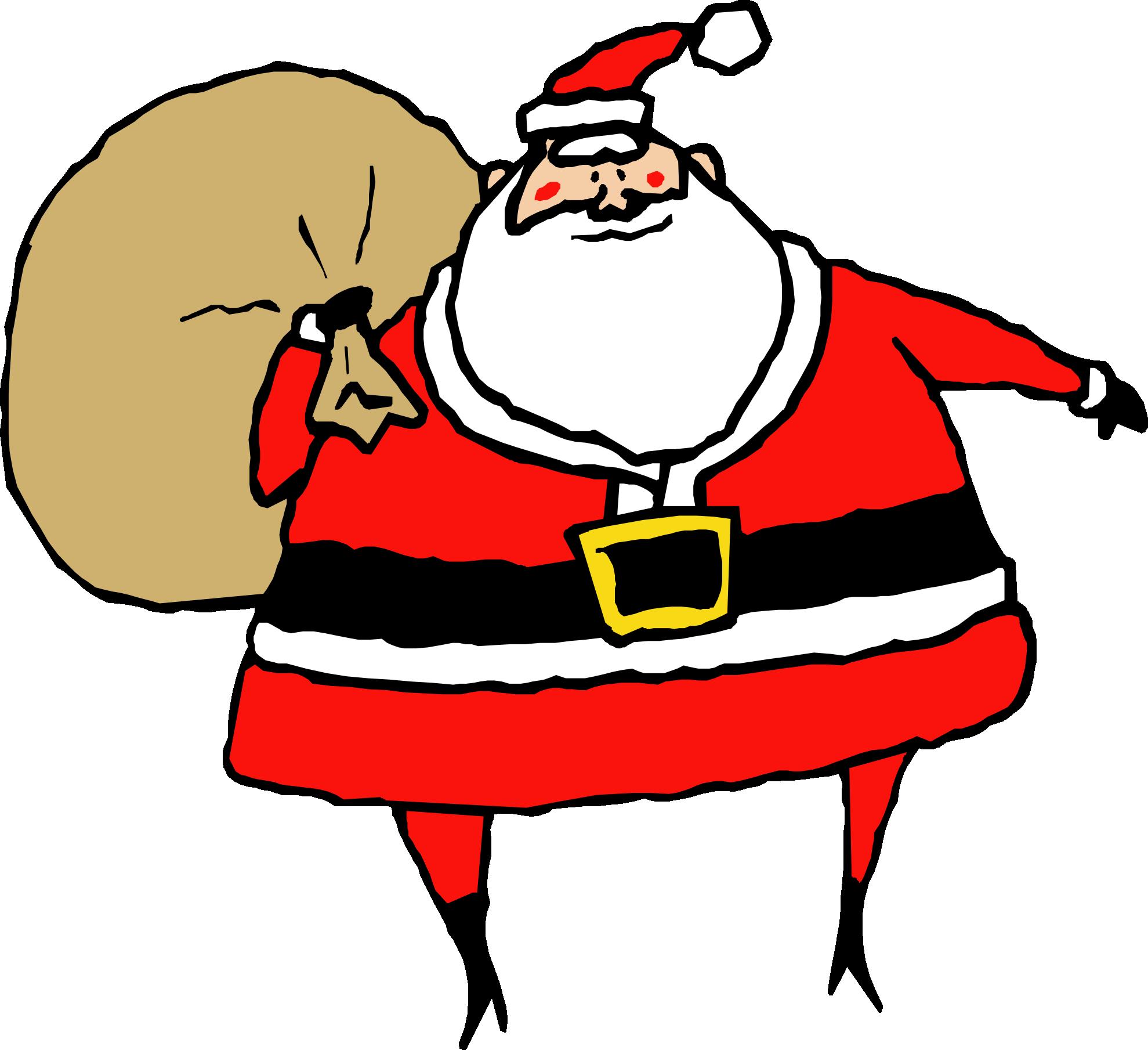 1979x1809 Transparent Santa With Rudolph Clipart