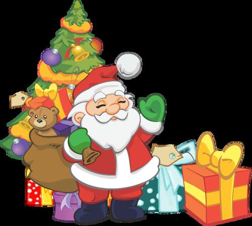 500x448 994 Free Christmas Clip Art Santa Reindeer Public Domain Vectors
