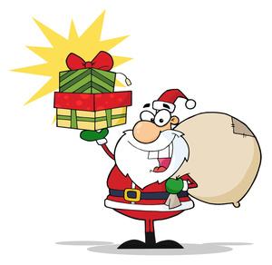 Santa And Sleigh Clipart