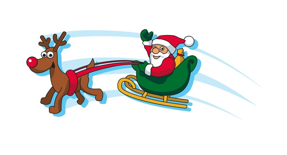 Santa And Sleigh Clipart at GetDrawings | Free download